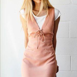 AFTER MARKET Lace-Up Dress